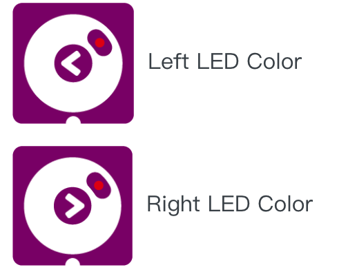 Left and right Led color on programming kit - Matatalab