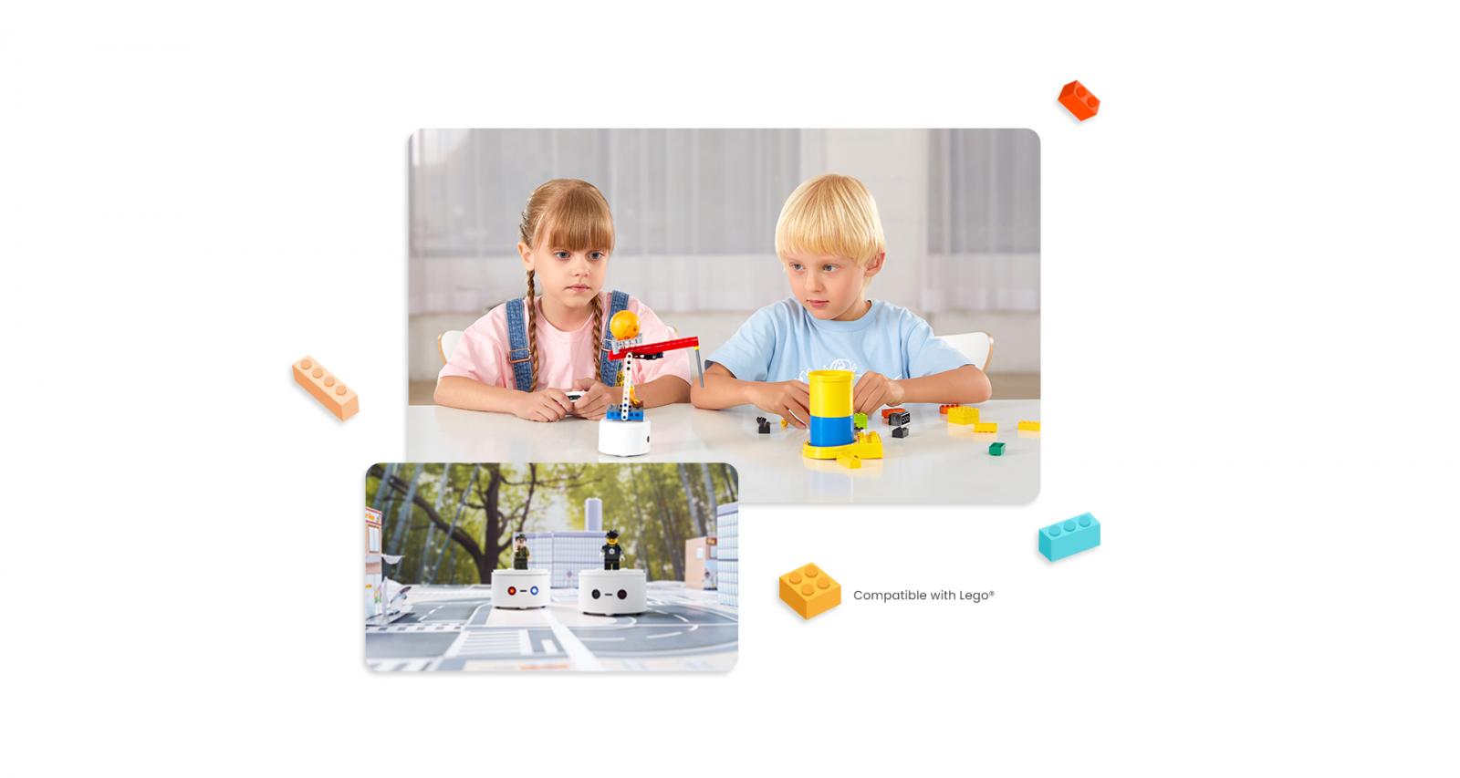 2 Kids Playing Matatalab Lite - Coding Toys - Matatalab