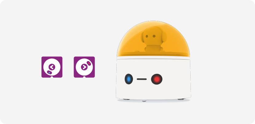Left and Right Button on Robot - Coding Toys - Matatalab